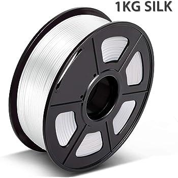 Filamento Silk PLA White 1.75mm,3D Warhorse 1.75mm Filamento Silk ...