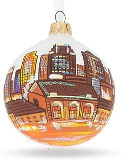 BestPysanky Kansas City, Missouri Glass Ball Christmas Ornament 3.25 Inches
