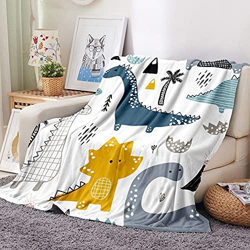 YULE Manta para siestas, diseño de dinosaurio, manta de franela suave para sillas, viajes, camping, niños, adultos, cama, funda de sofá de invierno (color: color 5, tamaño: 180 x 200 cm)