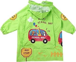 子供レインコートキッズ雨具 男の子と女の子のためのフローラルレインスーツレインジャケット子供のポンチョ子供の防水コート子供レインギアレインウェア