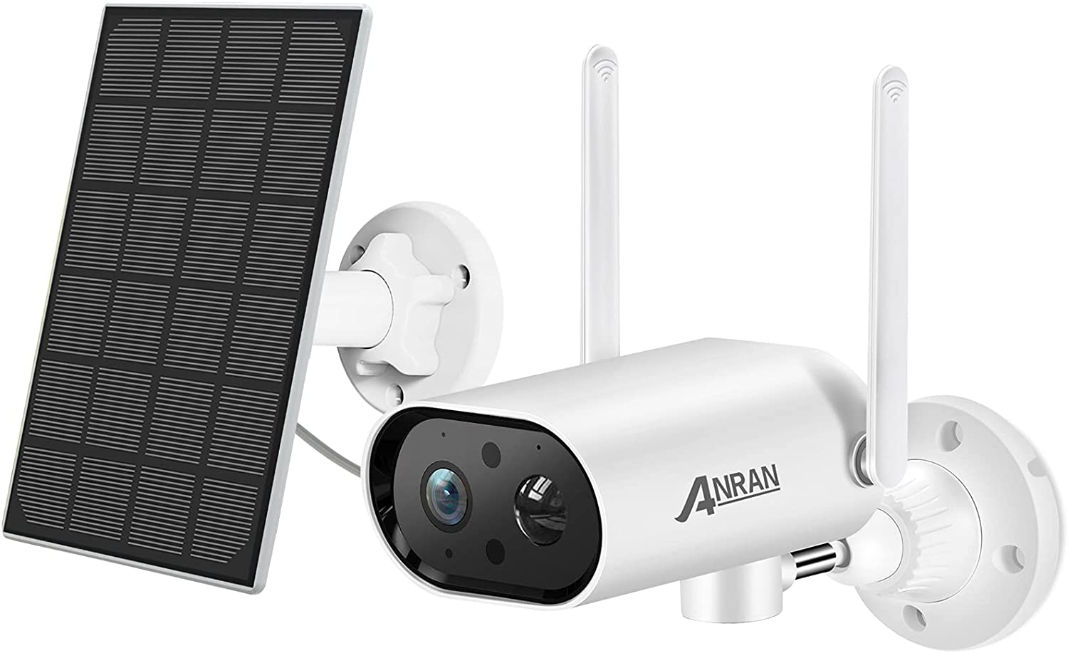 【180°Pan】 Wireless Solar Powered Security Outdoor Camera 1080P with 32GB SD Card,ANRAN WiFi Battery Surveillance Home IP Camera,Human Motion Detection,2 Way Audio,Night Vision,Waterproof,2.4Ghz WiFi