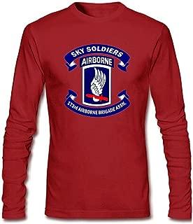 YYShirt Men's 173rd Airborne Brigade Long Sleeve T-Shirt X-Large Red