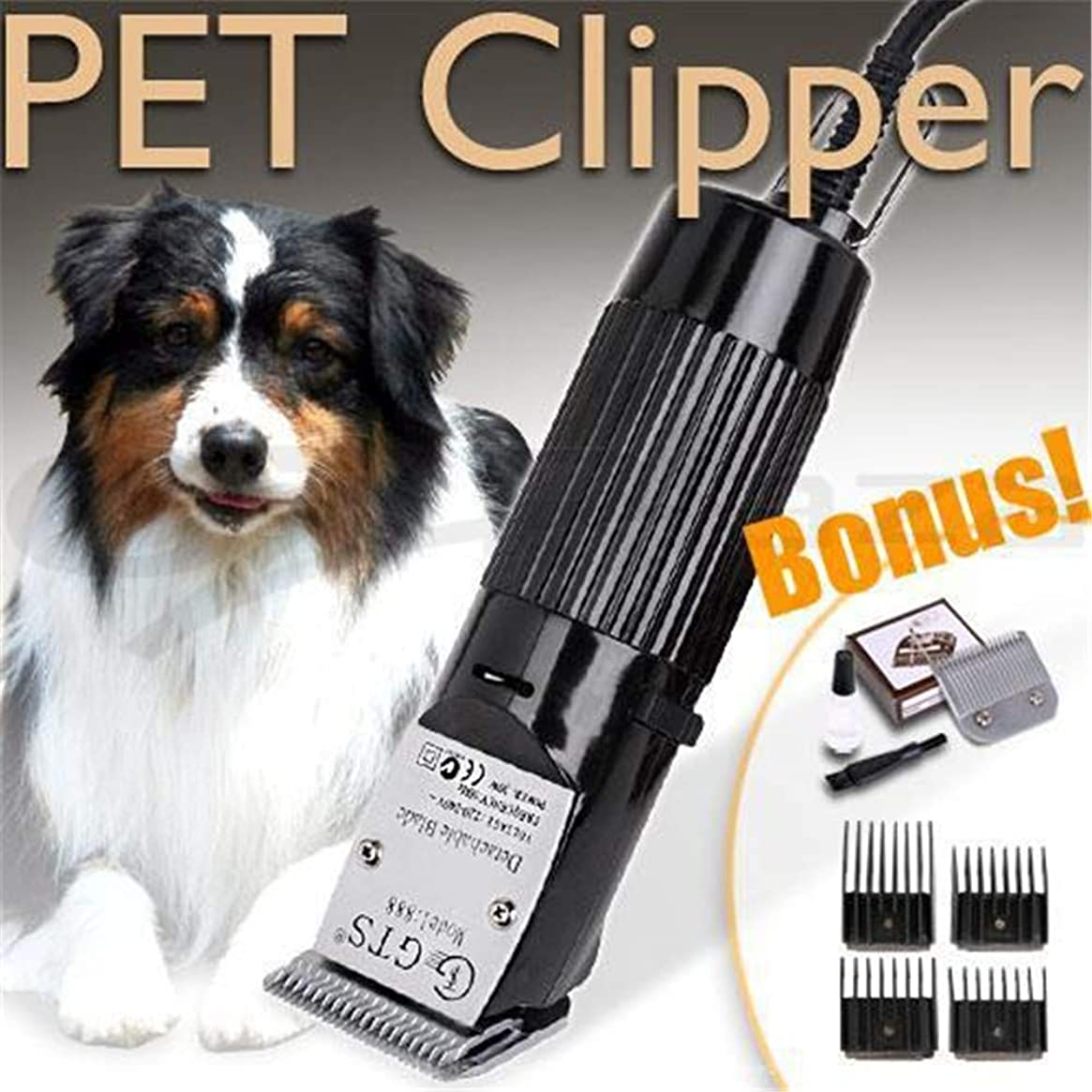 修羅場ふくろう土砂降りバリカン、ペットの毛のトリマーのための電気毛の打抜き機犬の電気動物の剃る機械のための専門の毛クリッパー