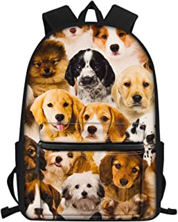 Nopersonality Sac à dos d'écolier léger avec imprimé chien paresseux et tournesol pour filles et enfants