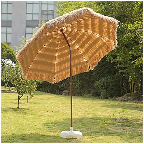 Homfure Inclinación Parasol de Paja Tropical de Playa Hawaiana,Sombrilla de Playa,Sombrilla Portátil Tiki,Sombrilla Sunbrella para Patio,Jardín, Sombrilla para Exteriores