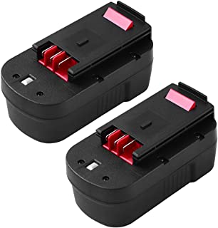 2Packs 18V Replacement for Black and Decker 18V Firestorm Battery HPB18 HPB18-OPE 244760-00 FS18FL FSB18 Black and Decker 18 Volt Power Tool