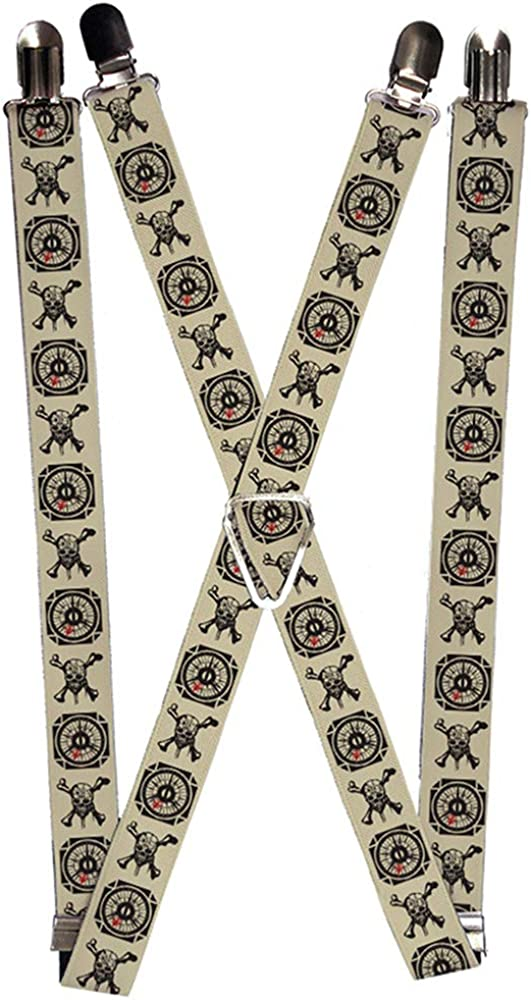 Buckle-Down Unisex-Adult's Suspender-Pirates, Multicolor, One Size