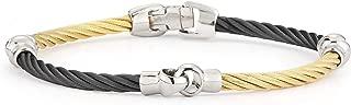 ALOR Black & Yellow Cable Interlocking Bracelet