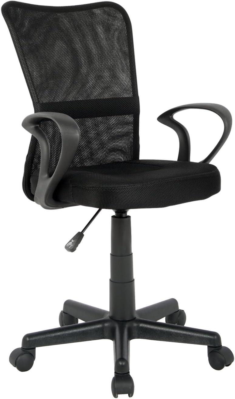 SixBros. Bürostuhl,Schreibtischstuhl, Drehstuhl für's Büro oder Kinderzimmer, stufenlos höhenverstellbar mit Armlehnen, Schreibtischstuhl für…