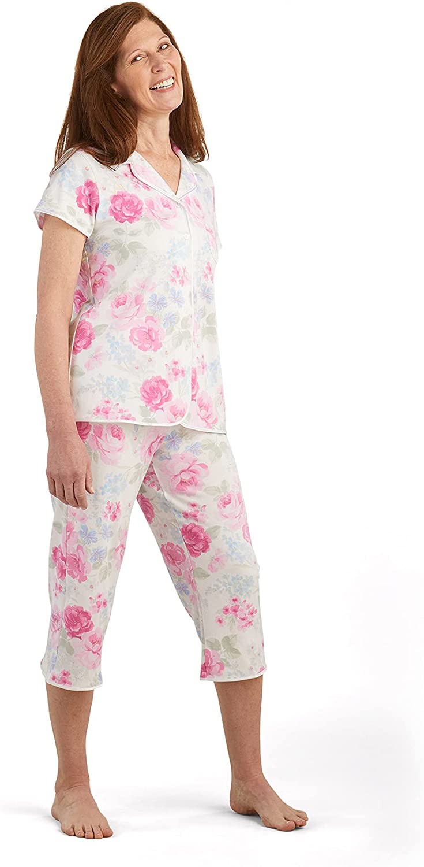 Miss Elaine Pajama Set - Women's PJ Sle Button Ranking TOP4 Up Gifts Top Short