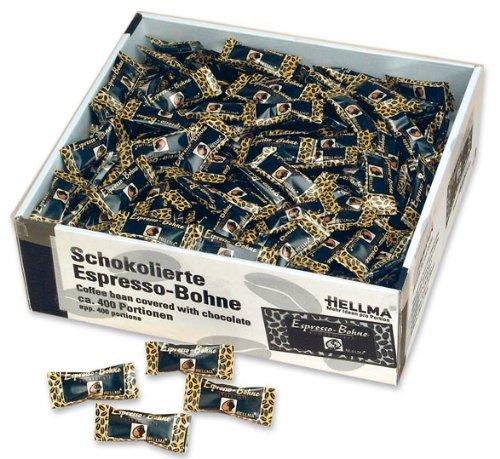 Hellma Espresso-Bohnen, schokoliert, einzeln verpackt - 400St. - 2x
