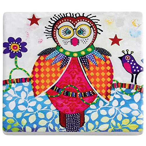 Maxwell & Williams Sottobicchiere Smile Style boobook gufo 9x 9cm ceramica & Sughero