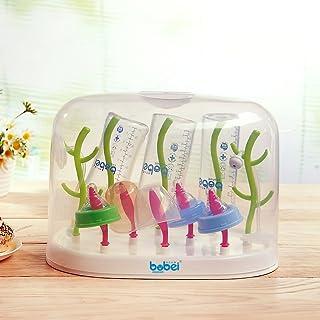 (免运费)邦贝小象 奶瓶架晾干架干燥架子晾晒架沥水凉奶支架配套防尘盖 (奶瓶架+防尘盖)