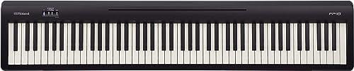 Piano numérique FP-10 Roland, 88 notes, portable, idéal pour la maison, couleur noire