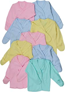 ToBeInStyle Girl's 4 Pack Comfy Relaxed Fit Short Sleeve Button Up Kimono