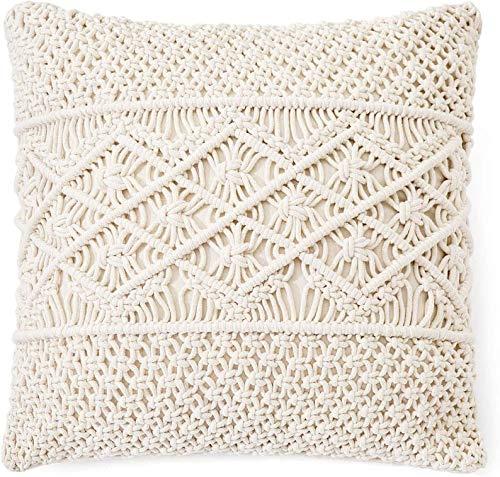 OMG-Deal 6 fundas de almohada/funda de almohada de macramé, funda de cojín decorativa de 45,7 x 45,7 cm, cama, sofá, banco, coche, decoración del hogar (relleno no incluido).