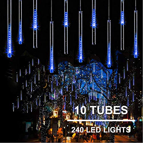 11.8 inch 10 Tubes 240 LED Meteor Shower Raindrop Lights