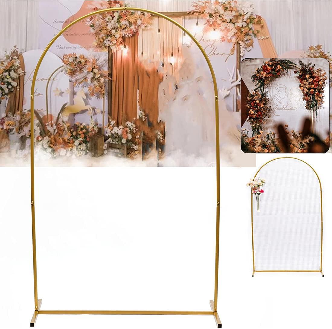 DNYSYSJ Gold Online limited product Metal Wedding Balloon Backdrop Stand Backgroun Gorgeous Arch