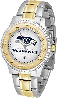 Game Time NFL Mens Two-Tone CompetitorWrist Watch, White, One Size