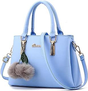 FS Women Top Handle Satchel Handbags Shoulder Bag Tote Purse Messenger Bags(Light Blue)