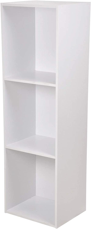 en venta en línea HOMEA HOMEA HOMEA 6ran699ta Cubo de almacenaje con 3Secciones seales de partículas, aglomerado, blancoo, 34.4x29.5x100.8 cm  precios al por mayor