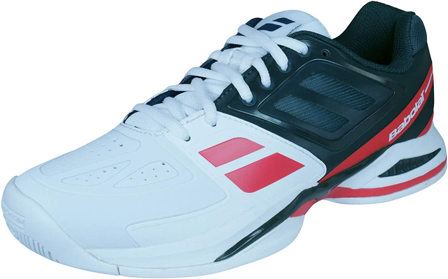Babolat Propulse Team Ac Mens Synthetic Material Trainers Black White Red