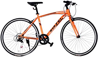 クロスバイク マウンテンバイク 700*23C シマノ製14段変速 超軽量高炭素鋼フレーム 前後キャリパーブレーキ ワイヤ錠・ライトのプレゼント付き PL保険加入 自転車 6色選べる 02