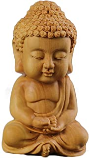 YYfashion [金品木彫] ミニ型 ツゲの木彫り 如来 仏教の開祖 釈迦 木製彫刻
