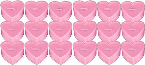 Sicerk Bougie de dîner Romantique, sans fumée, Non Toxique, 0,7 x 1,6 x 1,6 Pouces, Bougie en Forme de Coeur pour Les Mari...