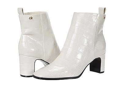 Calvin Klein Deni (Soft White Croco Embossed) Women