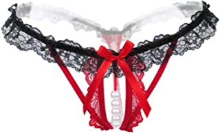 Pearls Womens Lace Sexy Thong Panties Intimates Lingerie Underwear G-String Low-Rise Panties