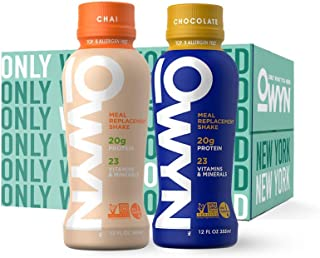 OWYN, Vegan Meal Replacement Shake, Variety,12 Fl Oz (Pack of 4), 100-Percent Plant-Based, Dairy-Free, Gluten-Free, Soy-Free, Tree Nut-Free, Egg-Free, Allergy-Free, Vegetarian, Kosher …