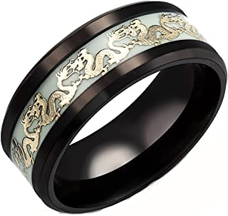 Stainless Steel Jewelry JEWURA Couple Love Ring Black with Inner Rose Color