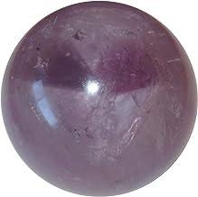SatinCrystals Amethyst Sphere Crystal Healing Ball Spiritual Bliss Eternity Stone Clear Purple Rainbow Gazing Gemstone, Br...
