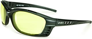 UVEX by Honeywell S2602XP Uvex Livewire Sealed Safety Eyewear with Matte Black Frame, Amber Lens Tint, UV Extreme and Anti-Fog Lens Coating