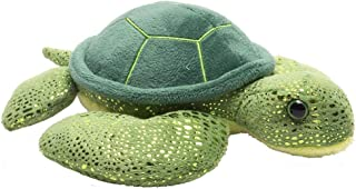 Wild Republic 16262, Green Sea Turtle Hug'ems Plush, Cuddly Soft Toy, Kids Gifts, 18 cm