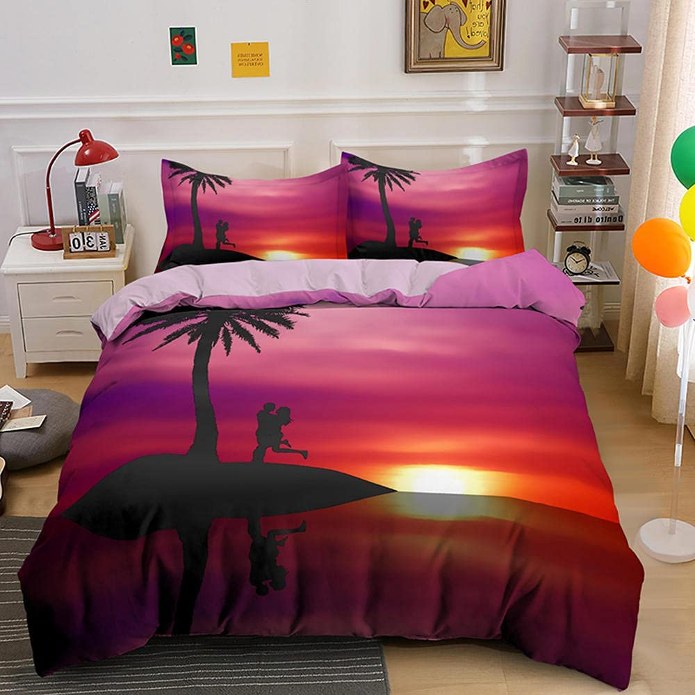 Beach NEW Scenery Duvet Cover Home Popular products 3 Bedding Bedclothes 3D Piece Set