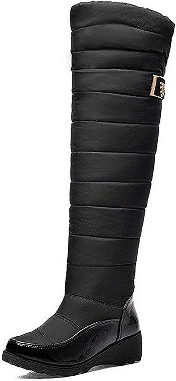 Yingzuzeng Woherrar Round Closed Toe Solid Solid Solid High Top Low klackar stövlar modeable  mer rabatt