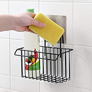 ADTALA Metal Self Adhesive Organizer Storage Hanging Shower Caddy Rack Shelf for Bathroom (Multicolour; 19 x 6.2 x 16.4cm)