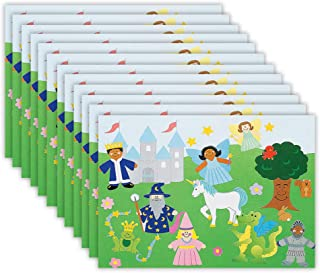 Kicko Make a Fairy Tale Sticker - Set of 12 Fantasy Stickers Scene for Birthday Treat, Goody Bags, School Activity, Group Projects, Room Decor, Arts and Crafts