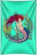 Graphics and More Mermaid Holding Trident Circle Art Nouveau Kelp Home Business Office Sign - Vinyl Banner - 22