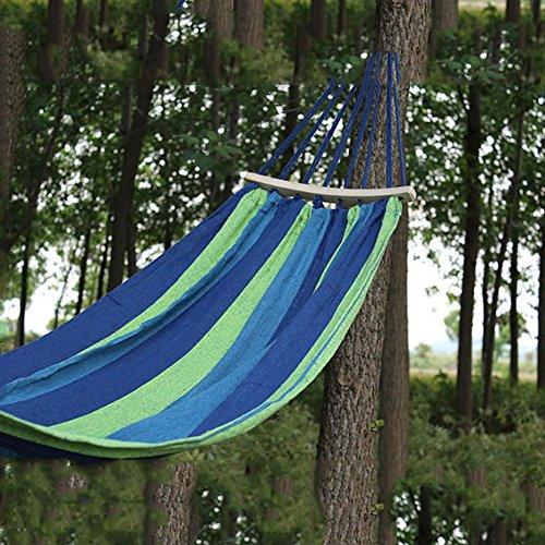 XY&CF Hamac de hamac rayé de Camping extérieur de Jardin de Voyage de Jardin (Couleur : B, Taille : 190 * 150CM)