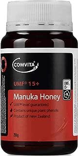 Comvita Certified UMF 15+ (Ultra Premium) Manuka Honey I New Zealand's #1 Manuka Brand I Non-GMO, Halal, and Kosher Certified I 250g (8.8oz) Pack of 1