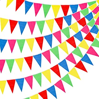 RUBFAC 1020ft 720pcs Colorful Flag Pennants Multicolor Rainbow Pennant Banner Nylon Cloth Banner for Grand Opening, Party Celebrations