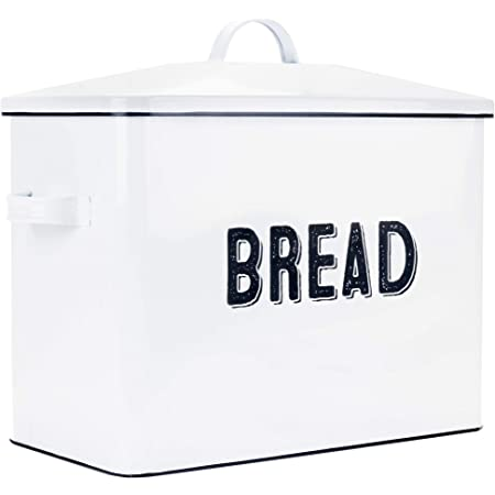 Chips /& More,Clever Modern Collection White Bread Box With Lid Kitchen Storage Bread Bin Bread Storage Bagels Farmhouse Bread Box,Bread Storage Container Homemade Loaves
