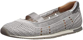Gentle Souls by Kenneth Cole Women's Luca Knit Ballet Flat, Light Grey, 9.5 M US