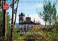 Camino Portugues - JakobswegAT-Version (Tischkalender 2022 DIN A5 quer): Pilgerweg entlang der portugisischen Kueste von Porto nach Santiago de Compostela (Geburtstagskalender, 14 Seiten )