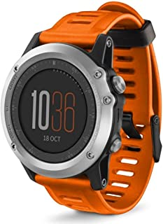 Huamecl Soft Silicone Sport Replacement Strap for Garmin Fenix 3/Fenix 3 HR(tracker is not included) Garmin Fenix 3/Fenix 3 HR Orange Huamecl