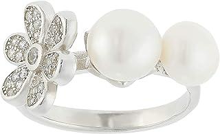 Aurora Women's Silver Pearl Silver Ring
