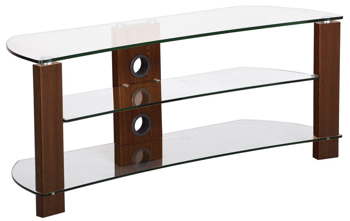 TNW 34637 Vision Curve 1000 - Soporte para televisor (Cristal), Color Nogal y Transparente: Amazon.es: Electrónica